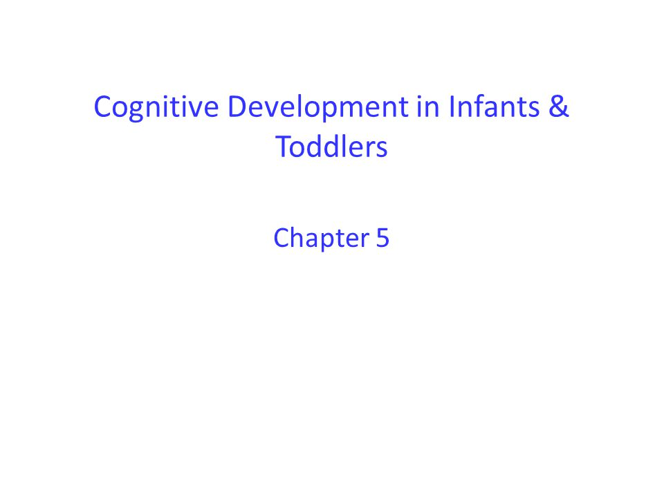 Cognitive Development in Infants & Toddlers