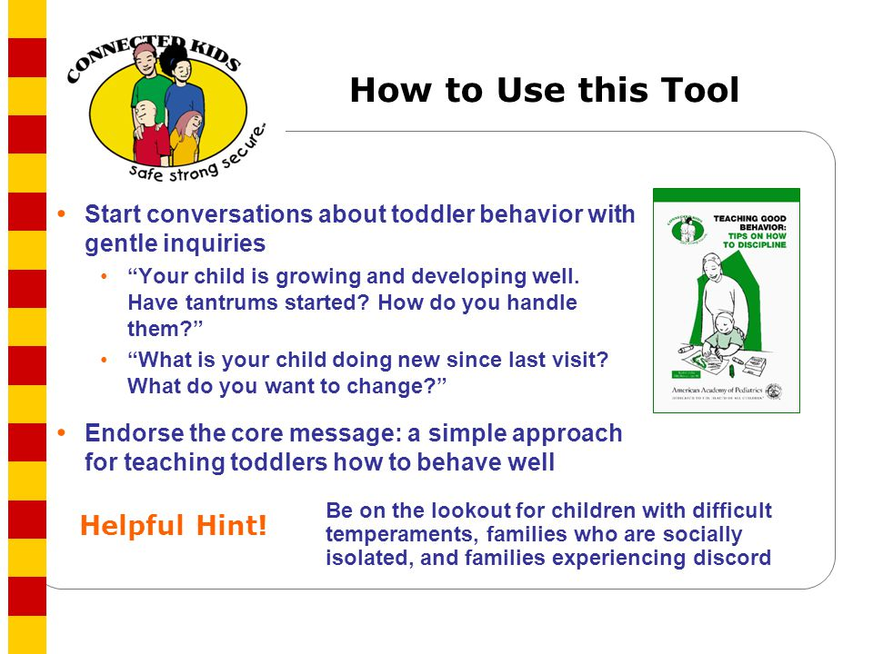 How to Use this Tool Helpful Hint!