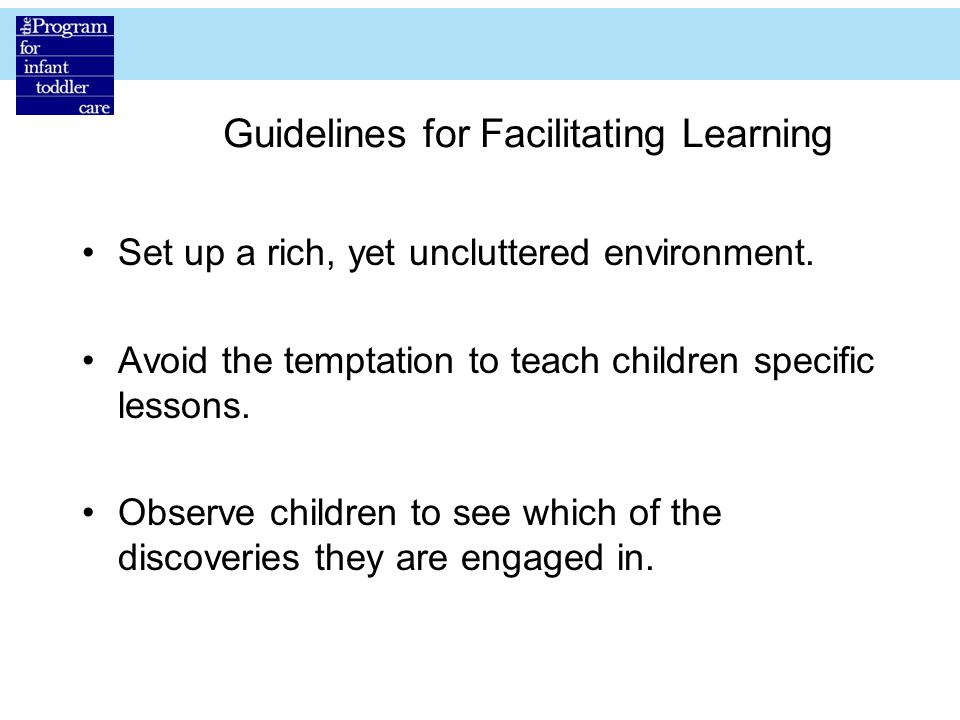 Guidelines for Facilitating Learning