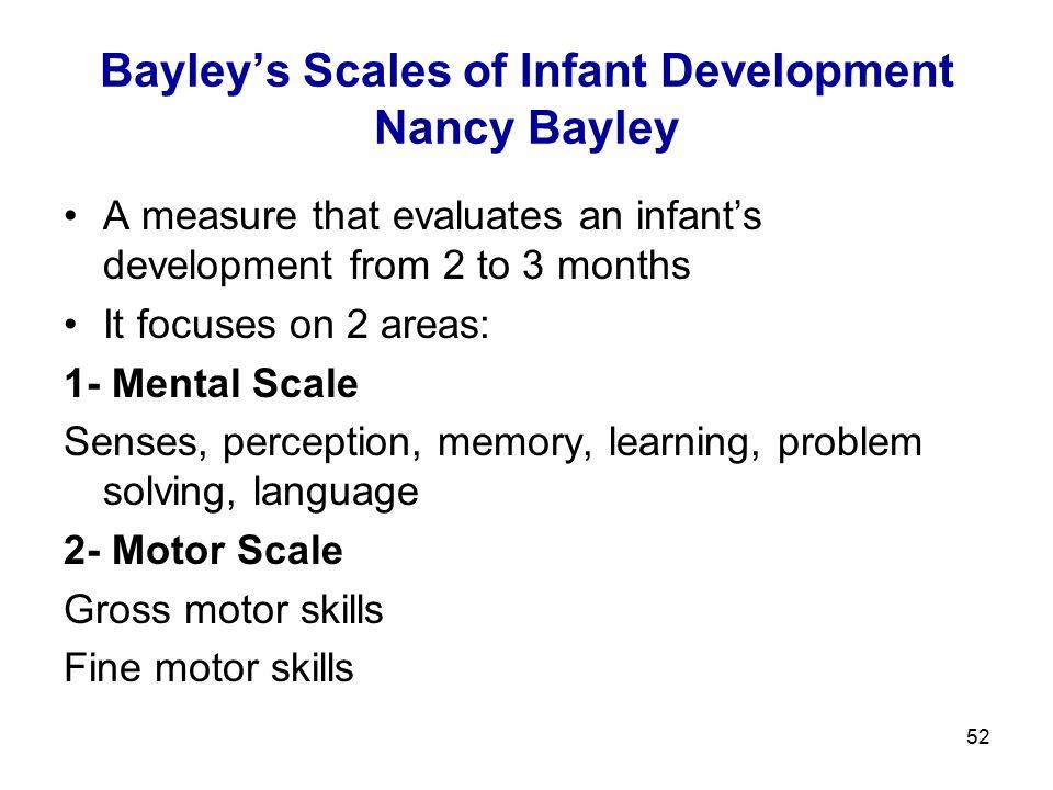 Bayley's Scales of Infant Development Nancy Bayley