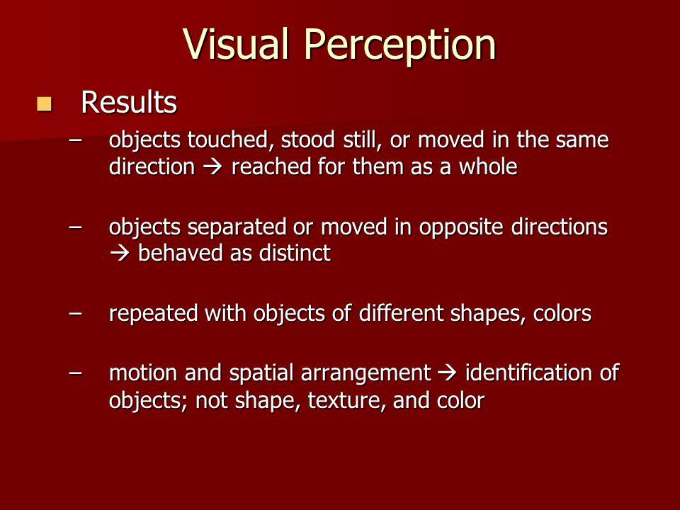 Visual Perception Results