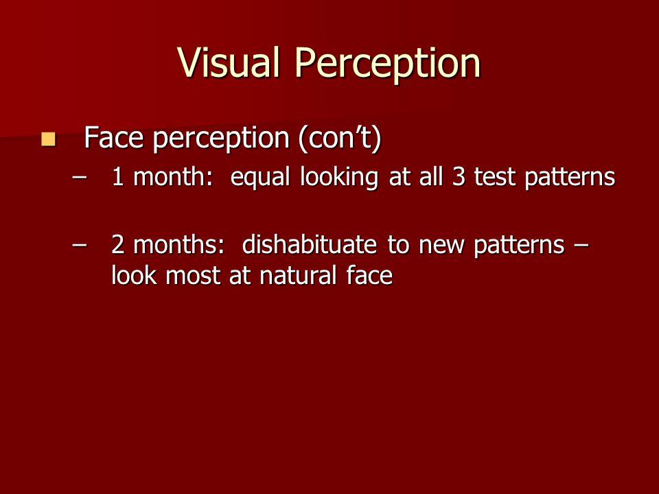 Visual Perception Face perception (con't)