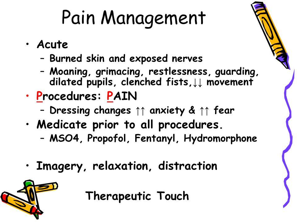 Pain Management Acute Procedures: PAIN