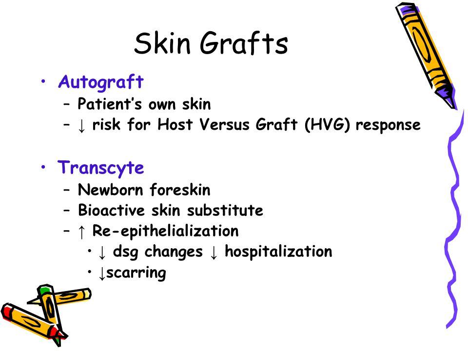 Skin Grafts Autograft Transcyte Patient's own skin