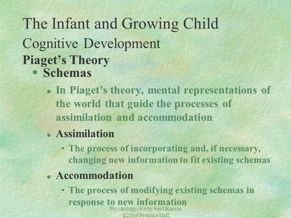 The Infant and Growing Child Cognitive Development Piaget's Theory
