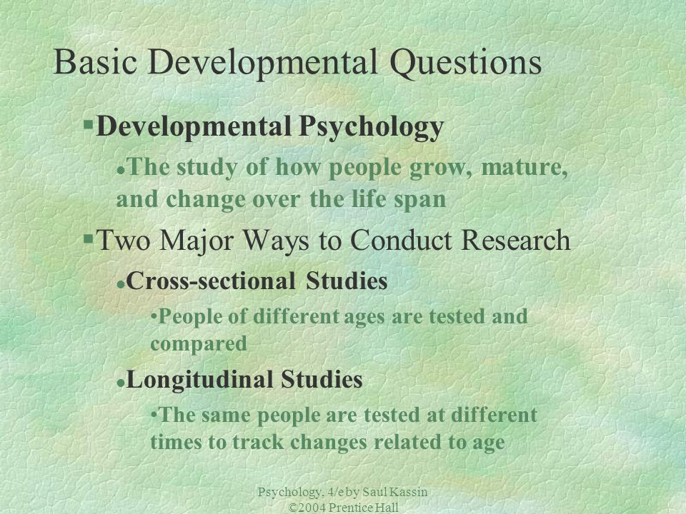 Basic Developmental Questions