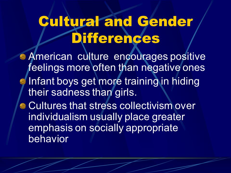 Cultural and Gender Differences