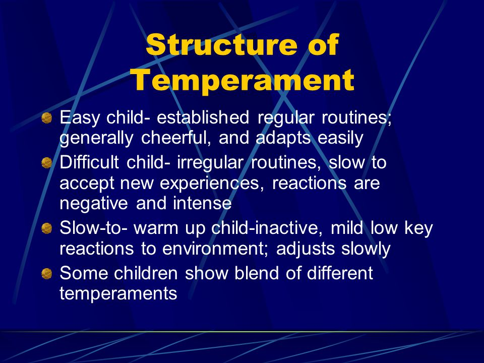 Structure of Temperament