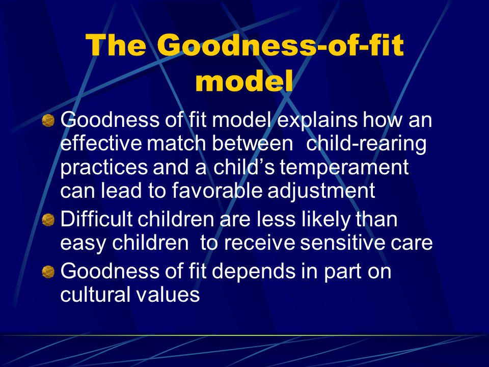 The Goodness-of-fit model
