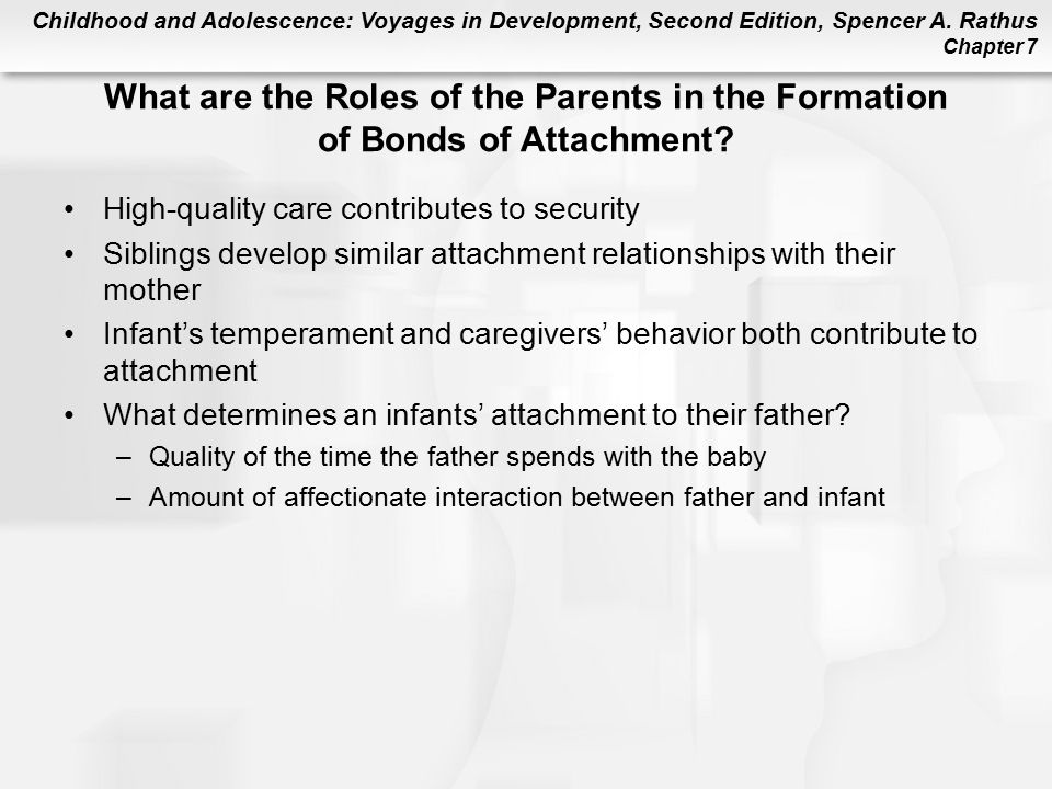 What are the Roles of the Parents in the Formation of Bonds of Attachment