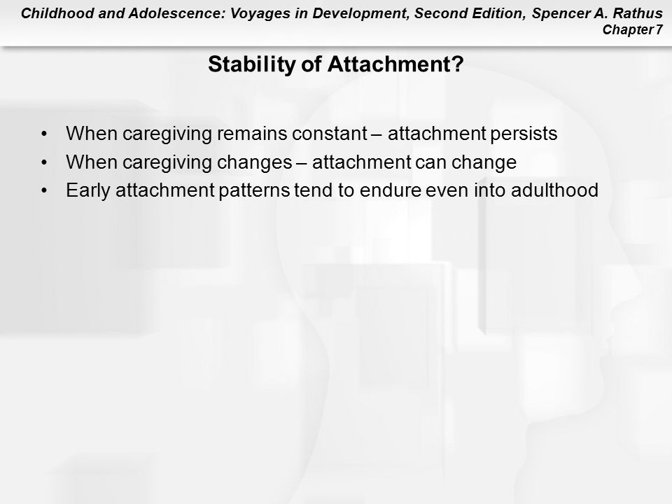 Stability of Attachment