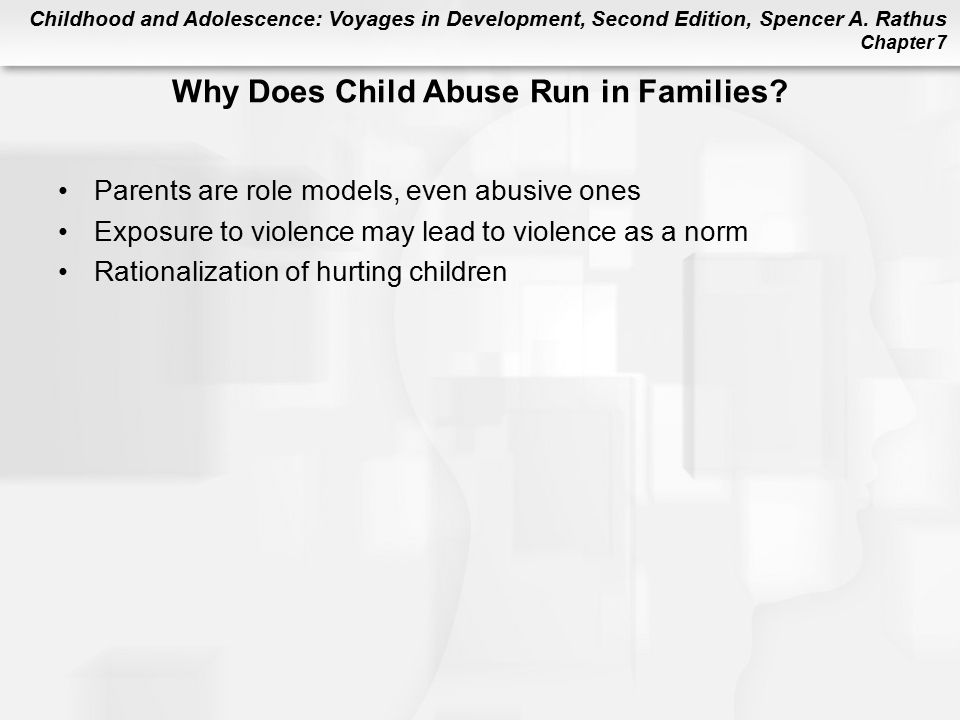 Why Does Child Abuse Run in Families