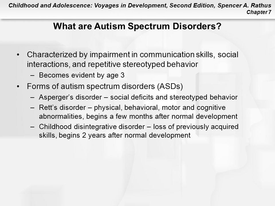 What are Autism Spectrum Disorders
