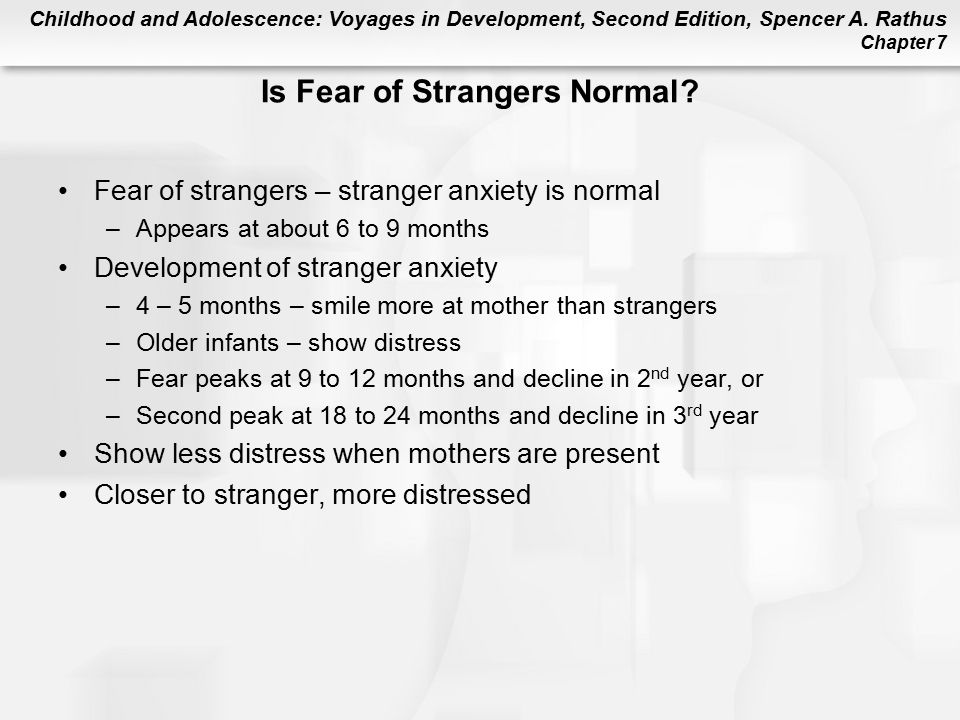 Is Fear of Strangers Normal