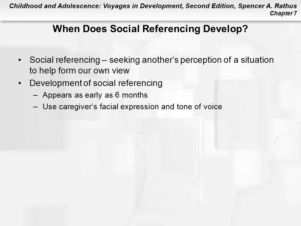 When Does Social Referencing Develop