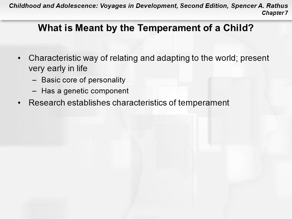 What is Meant by the Temperament of a Child
