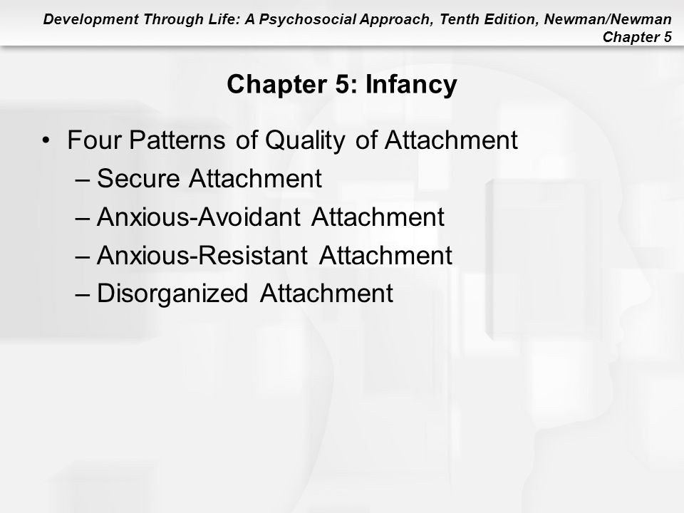 Four Patterns of Quality of Attachment Secure Attachment