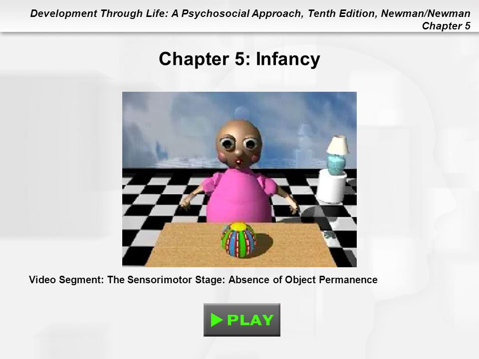 Chapter 5: Infancy Video Segment: The Sensorimotor Stage: Absence of Object Permanence