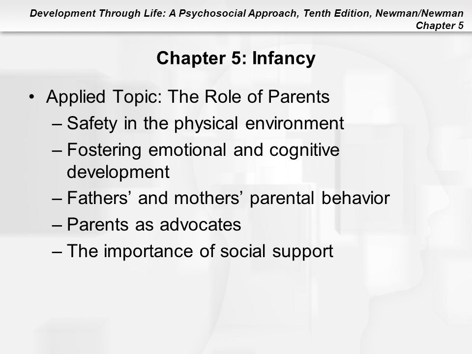 Applied Topic: The Role of Parents Safety in the physical environment