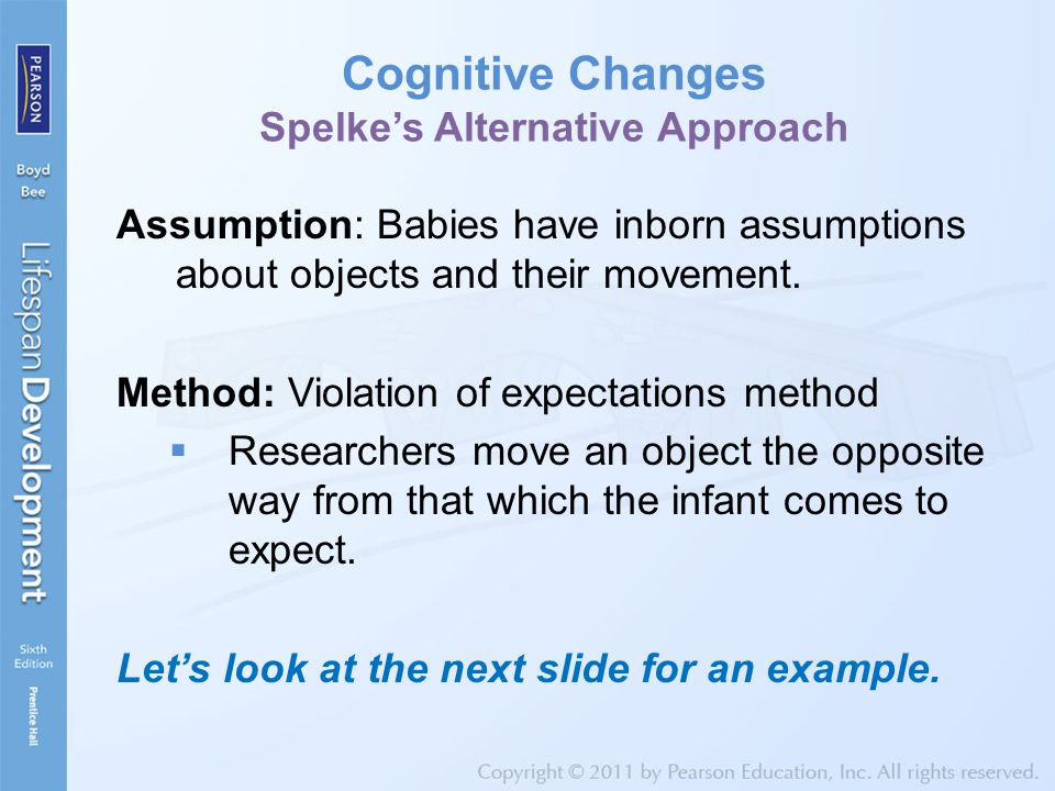Cognitive Changes Spelke's Alternative Approach