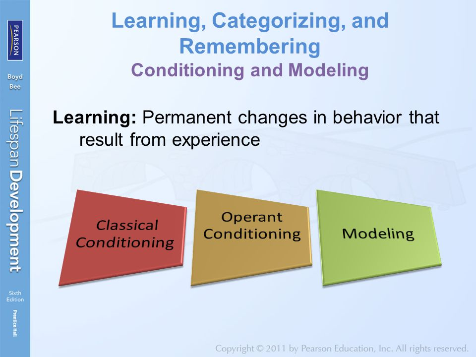 Learning, Categorizing, and Remembering Conditioning and Modeling