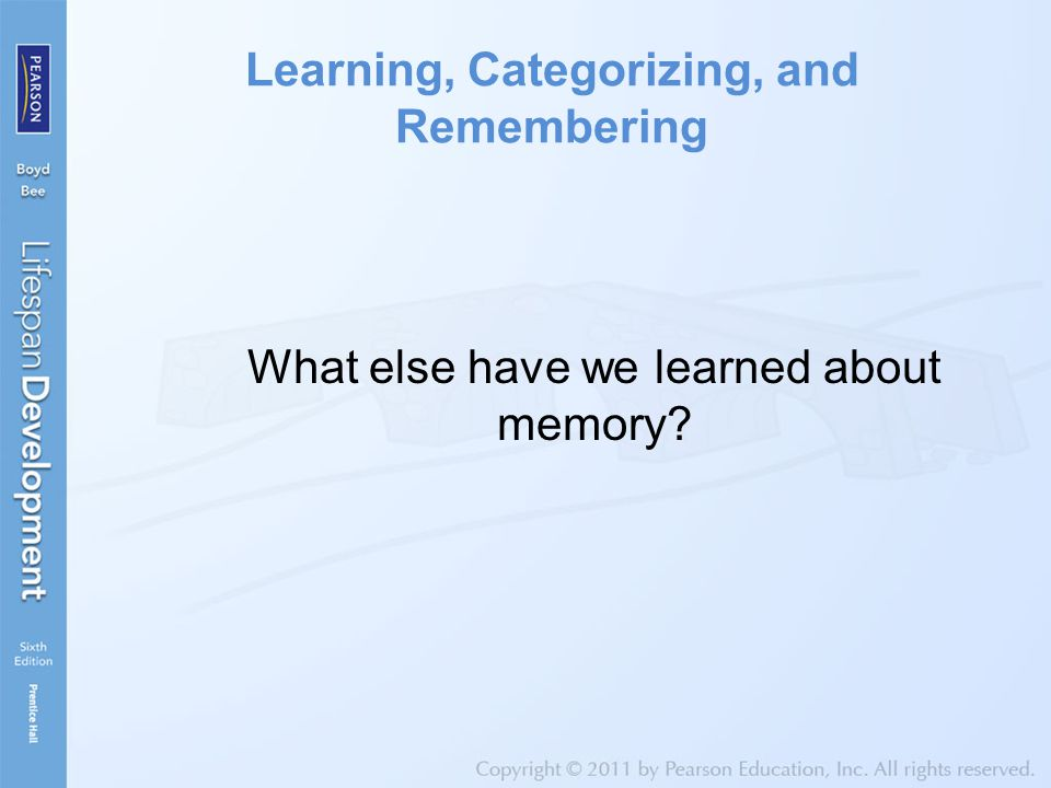 Learning, Categorizing, and Remembering