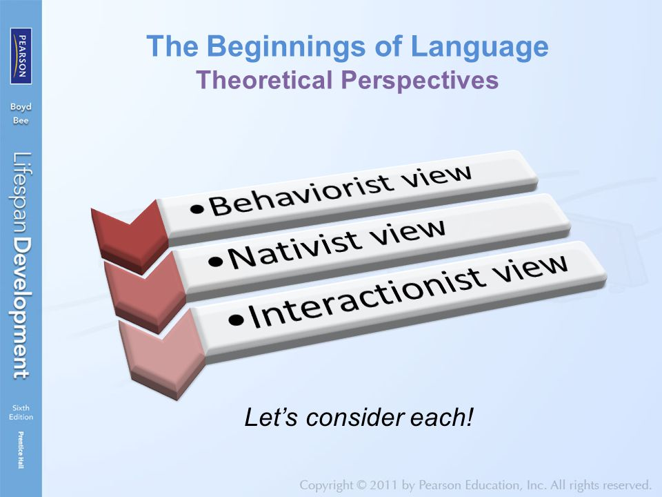 The Beginnings of Language Theoretical Perspectives