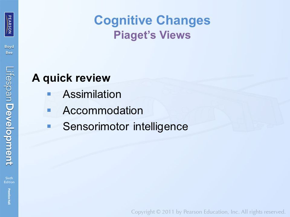 Cognitive Changes Piaget's Views