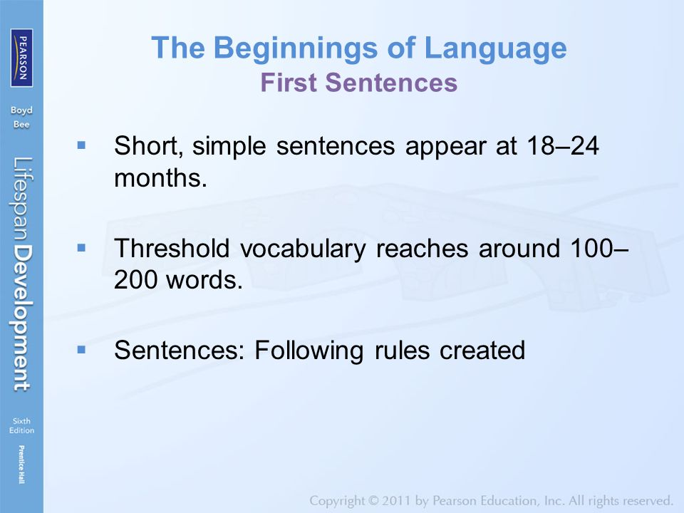 The Beginnings of Language First Sentences