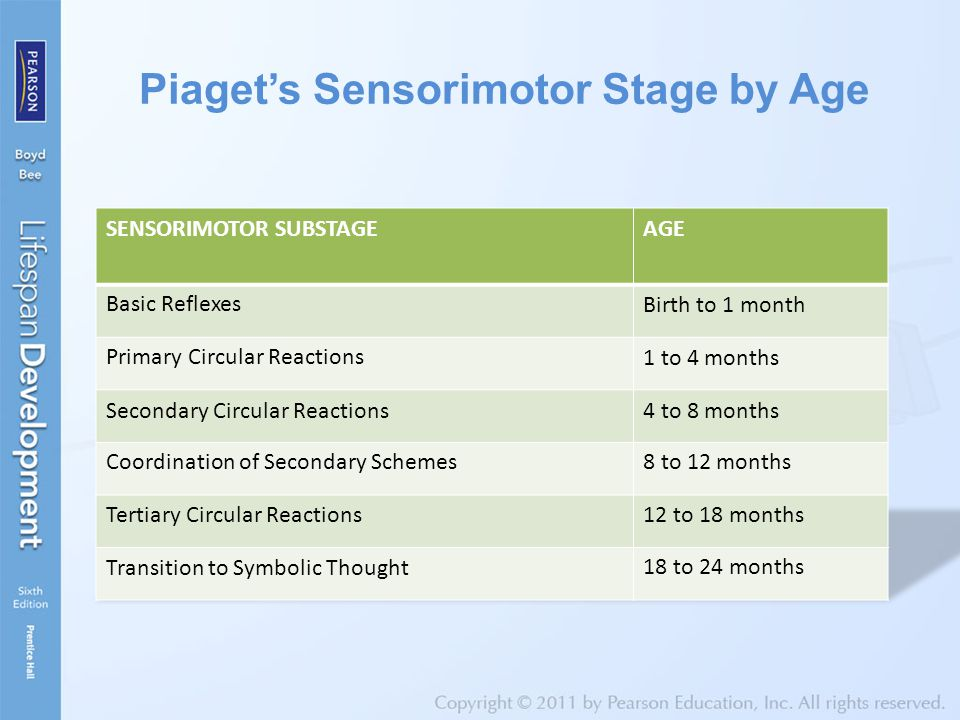 Piaget's Sensorimotor Stage by Age