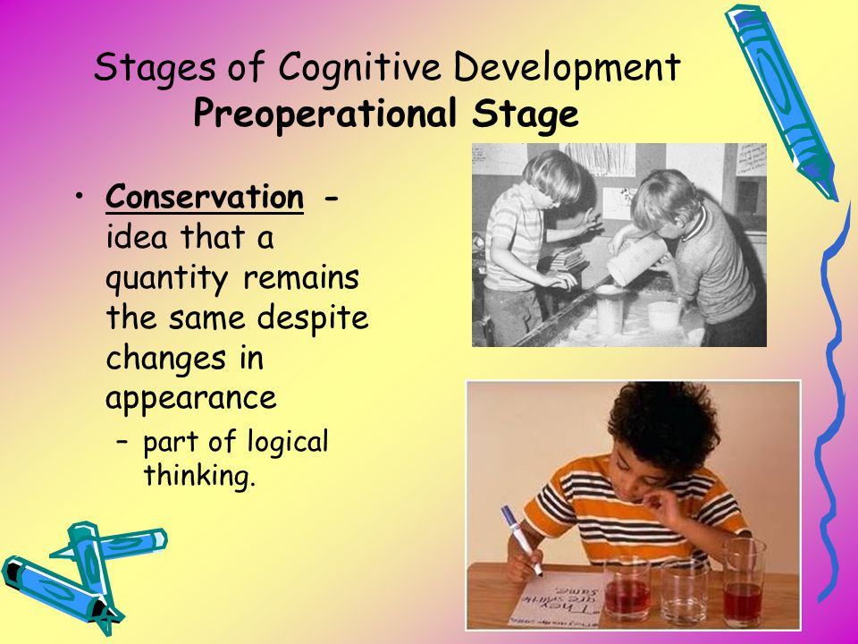 Stages of Cognitive Development Preoperational Stage
