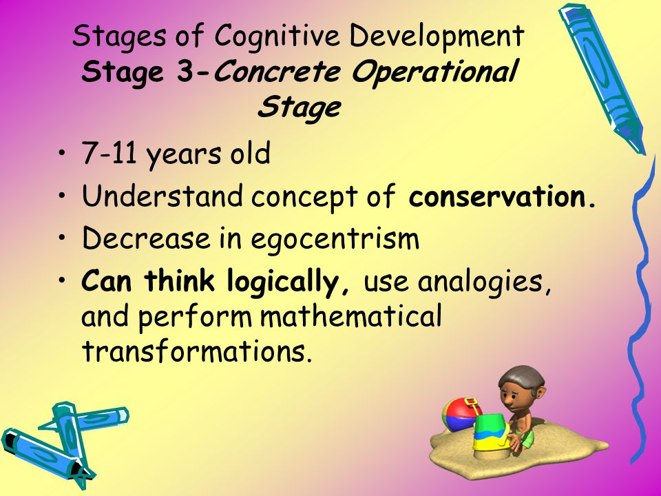 Stages of Cognitive Development Stage 3-Concrete Operational Stage