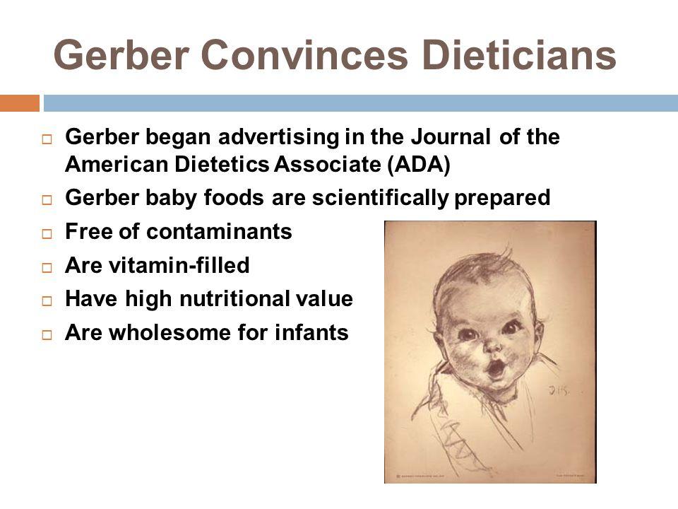Gerber Convinces Dieticians