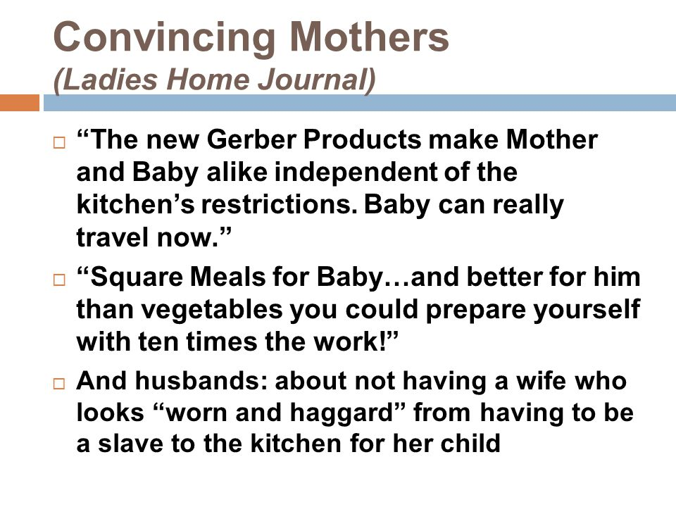 Convincing Mothers (Ladies Home Journal)