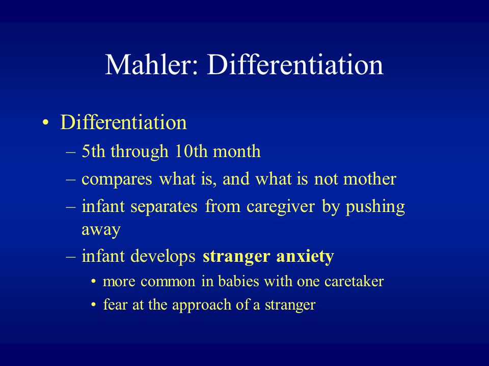 Mahler: Differentiation