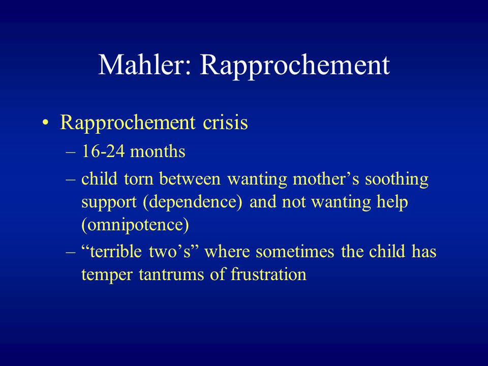 Mahler: Rapprochement