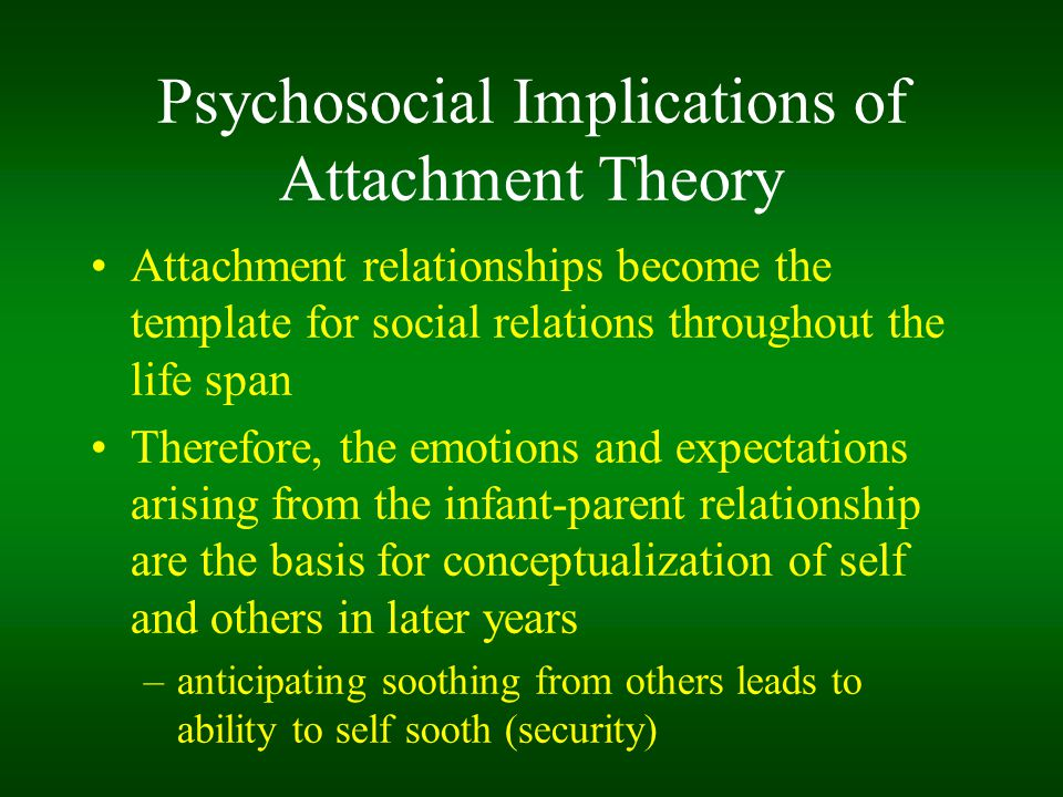 Psychosocial Implications of Attachment Theory