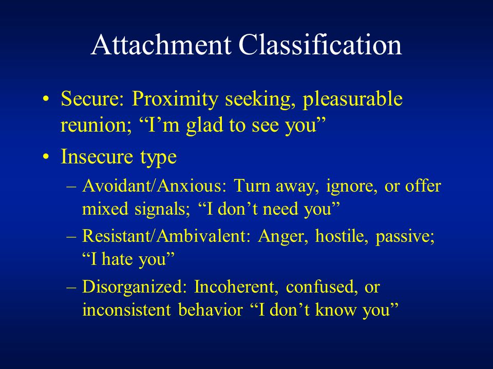 Attachment Classification