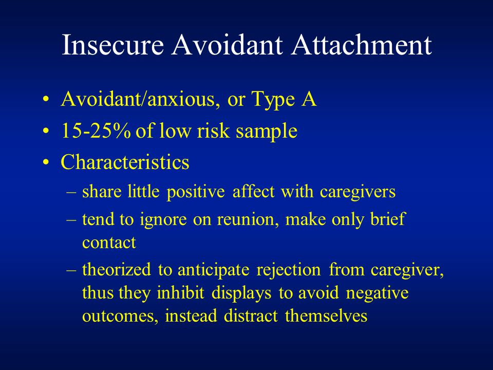 Insecure Avoidant Attachment