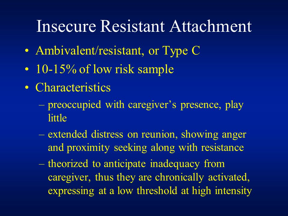 Insecure Resistant Attachment
