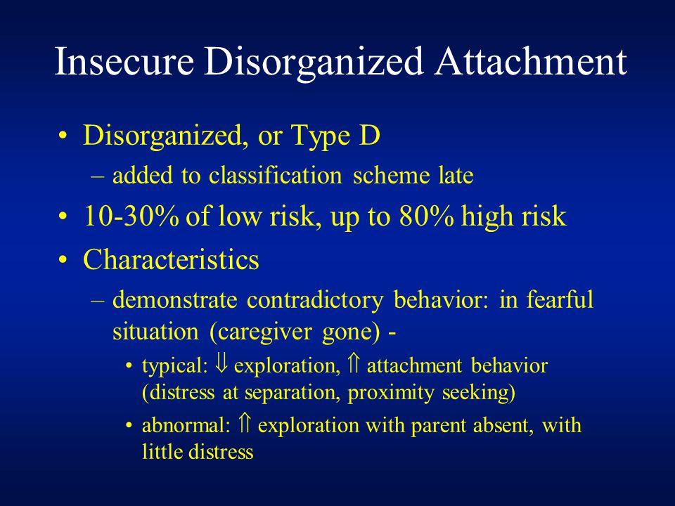 Insecure Disorganized Attachment