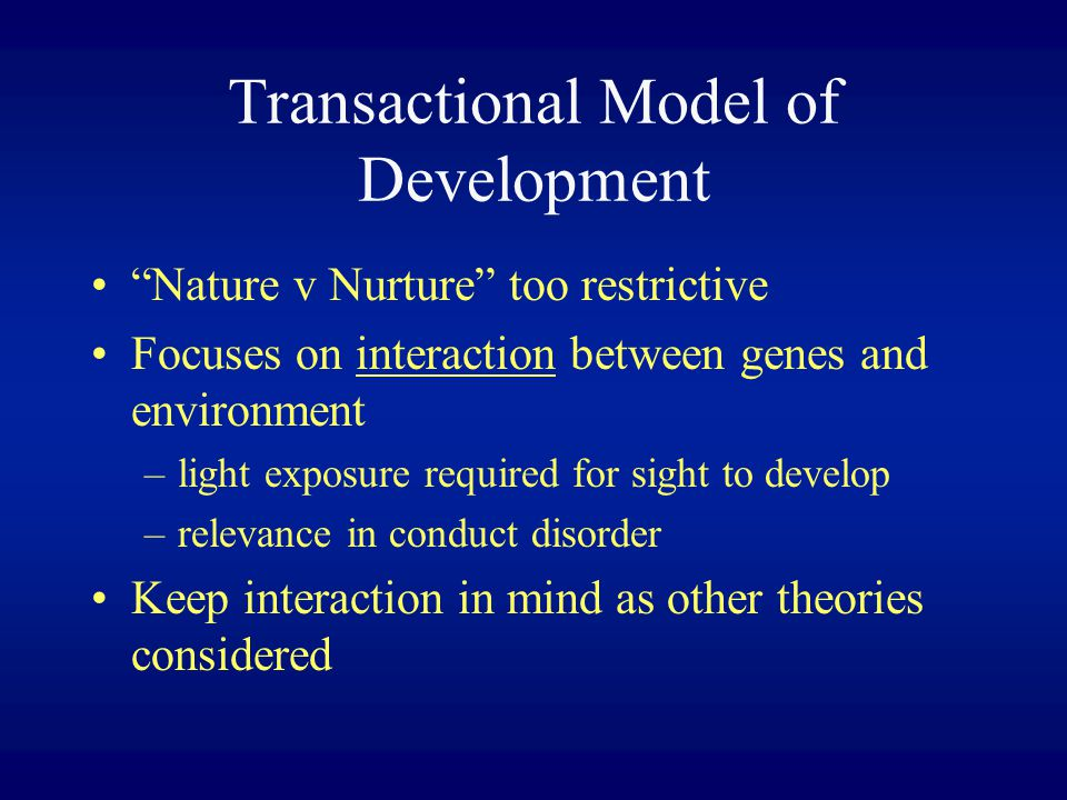 Transactional Model of Development