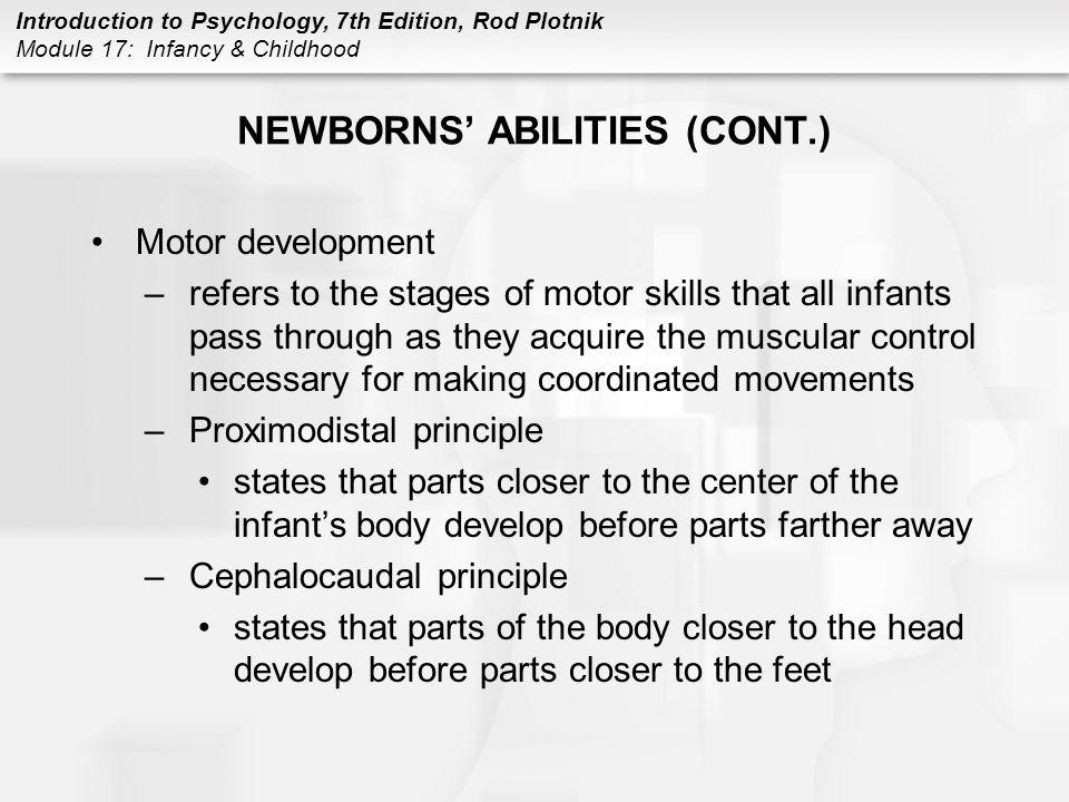 NEWBORNS' ABILITIES (CONT.)