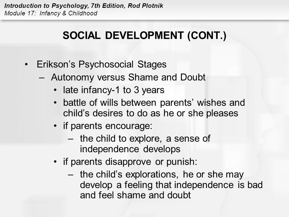 SOCIAL DEVELOPMENT (CONT.)