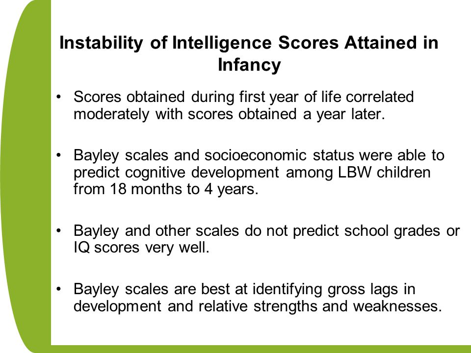 Instability of Intelligence Scores Attained in Infancy