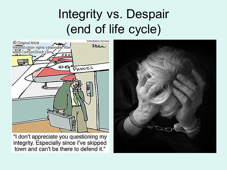 Integrity vs. Despair (end of life cycle)