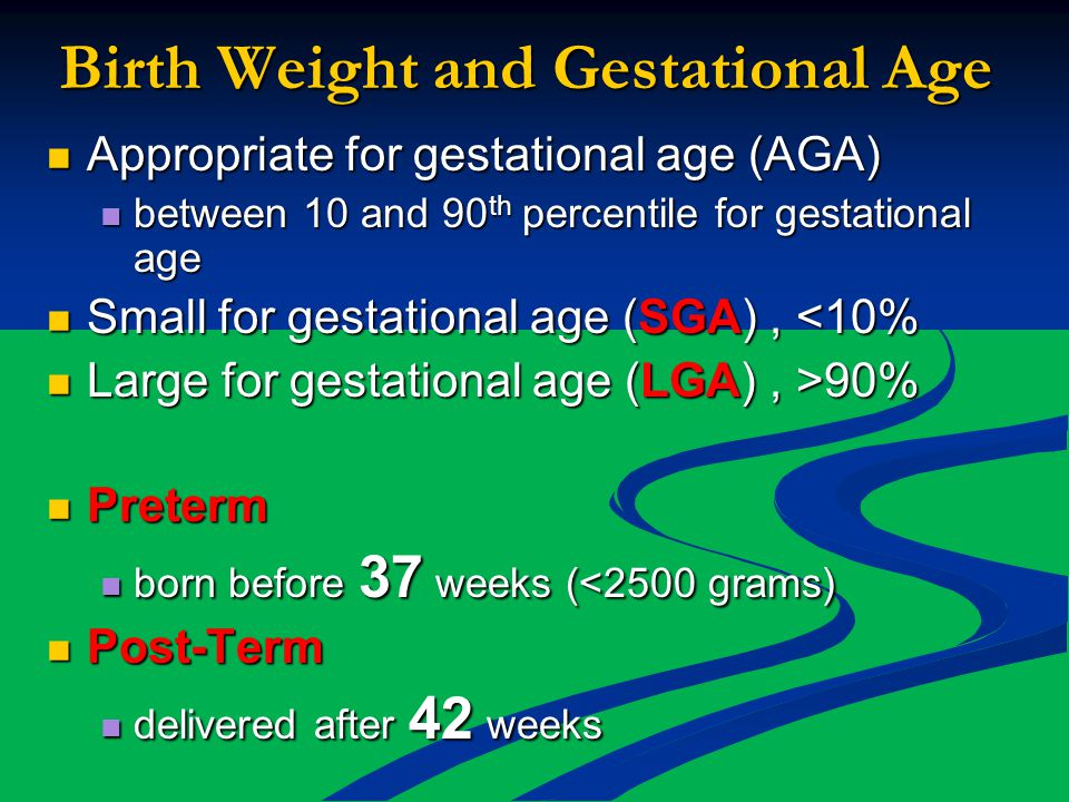 Birth Weight and Gestational Age
