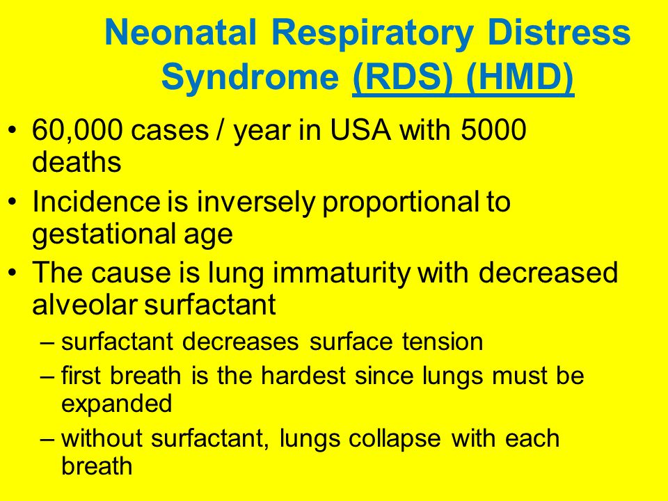 Neonatal Respiratory Distress Syndrome (RDS) (HMD)
