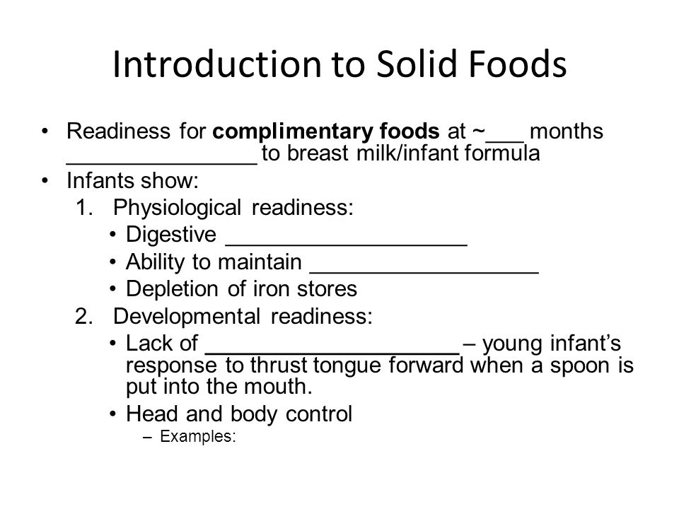 Introduction to Solid Foods