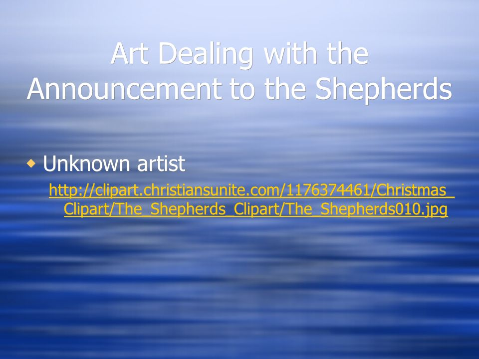 Art Dealing with the Announcement to the Shepherds